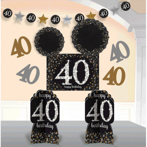 Sparkling Celebration 40 Room Decorating Kit