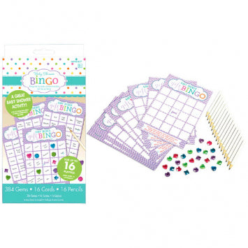 Baby Shower Deluxe Bingo 2 to 16 Players