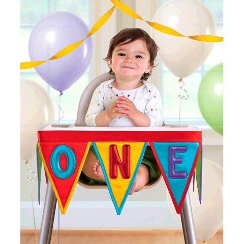1st Birthday Rainbow Deluxe High Chair Decoration