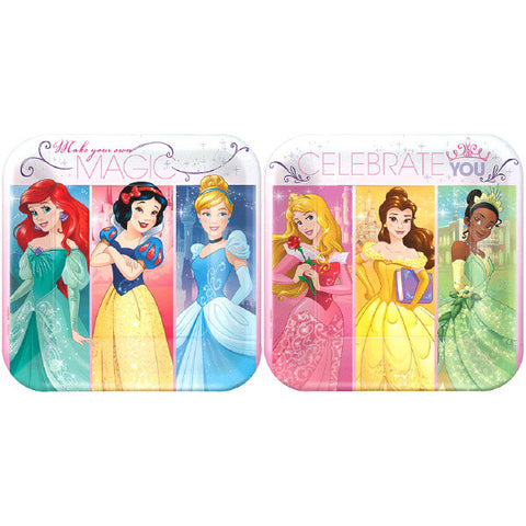 "Princess Dream Big Square Plates, 7"" 8ct."
