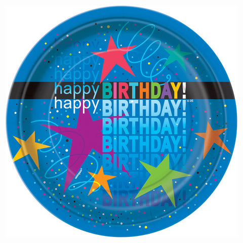 Cosmic Birthday Dessert Plates 16ct.