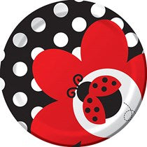 "Ladybug Fancy 7"" Lunch Plate 8ct."