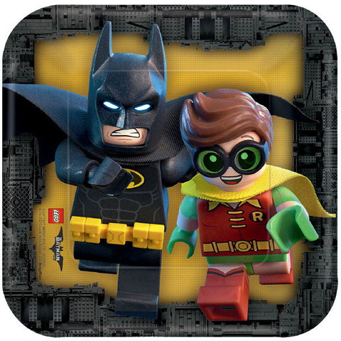 "Lego Batman Square Plates, 7"" 8ct."