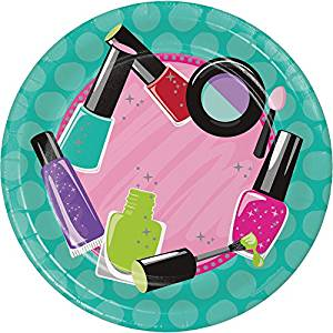 "Sparkle Spa Party! 7"" Lunch Plate, Icons 8ct."