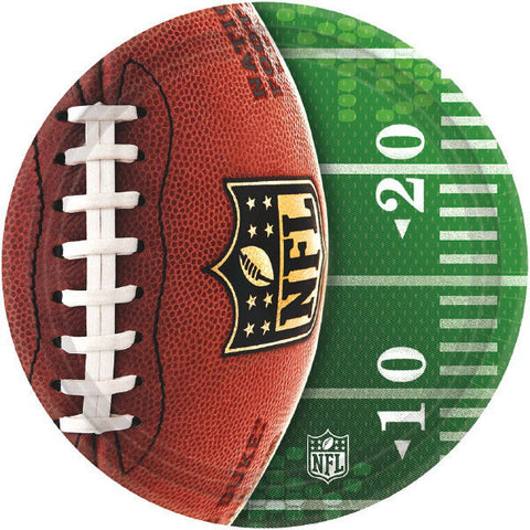 "NFL Drive 7"" Round Plates 8ct."
