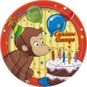 Curious George Dessert Plates 8ct.