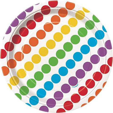 Rainbow Birthday Dessert Plates 8ct.