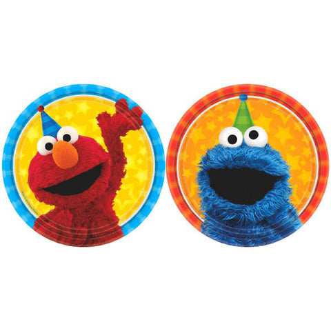 "Sesame Street Assorted Round Plates, 7"" 8ct."