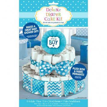 Baby Boy Deluxe Diaper Cake Decorating Kit