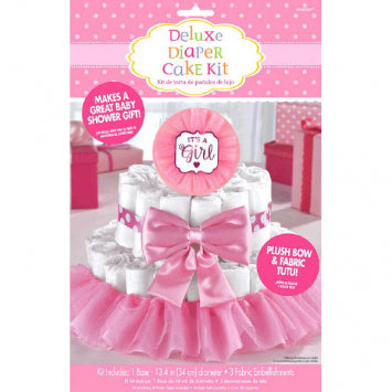 Baby Girl Deluxe Diaper Cake Decorating Kit
