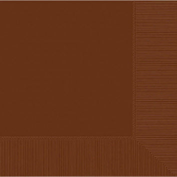 Chocolate Brown 3-Ply Dinner Napkins 20ct.