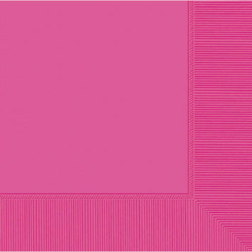 Bright Pink 3-Ply Dinner Napkins 20ct.