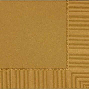Gold 3-Ply Dinner Napkins 20ct.