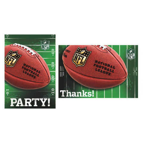 NFL Drive Invitations & Thank You Card Sets 8 each