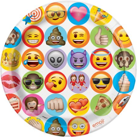 Emoji Celebration Lunch Plates 8ct.