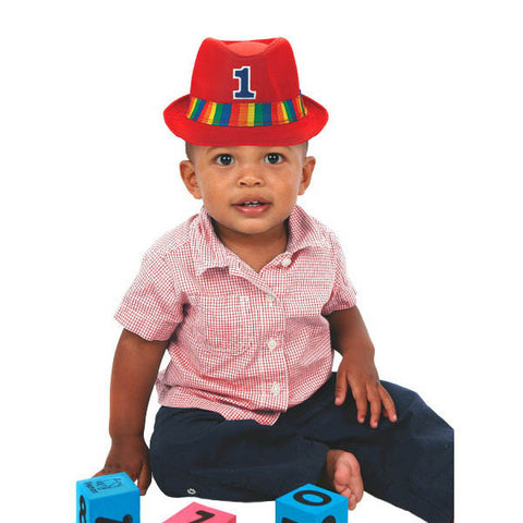 1st Birthday Rainbow Fedora