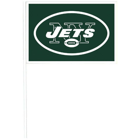 New York Jets Plastic Flags 12ct.