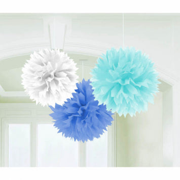 Baby Boy Fluffy Hanging Decorations 3ct.