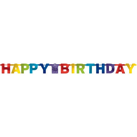 Bright Birthday Large Foil Letter Banner