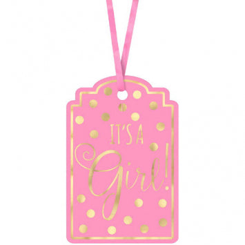 Baby Girl Foil Stamp Tags 25ct.