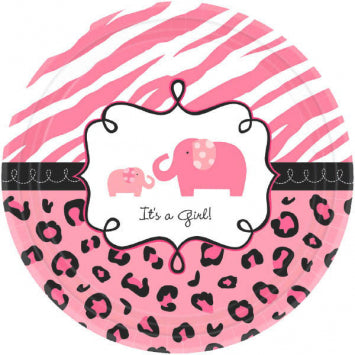 Sweet Safari Girl Dessert Plates 18ct.
