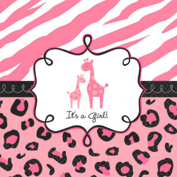 Sweet Safari Girl Luncheon Napkins 36ct.