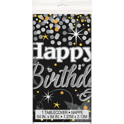 Glittering Birthday Tablecover