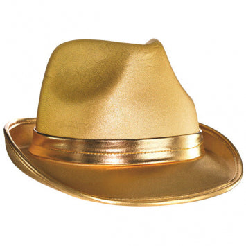 Gold Velour Fedora
