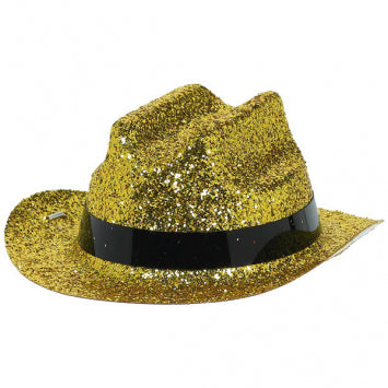Gold Glitter Mini Cowboy Hat