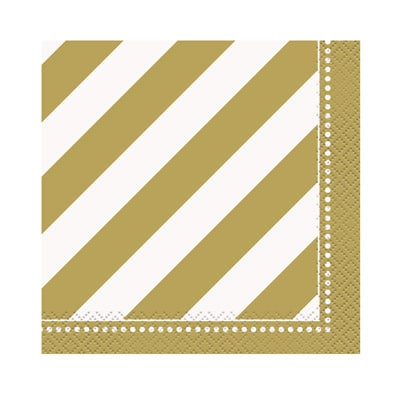 Golden Birthday Beverage Napkins 16ct.