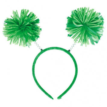 Green Pom Pom Headbopper