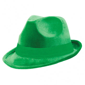 Green Velour Fedora