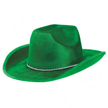 Green Velour Cowboy Hat