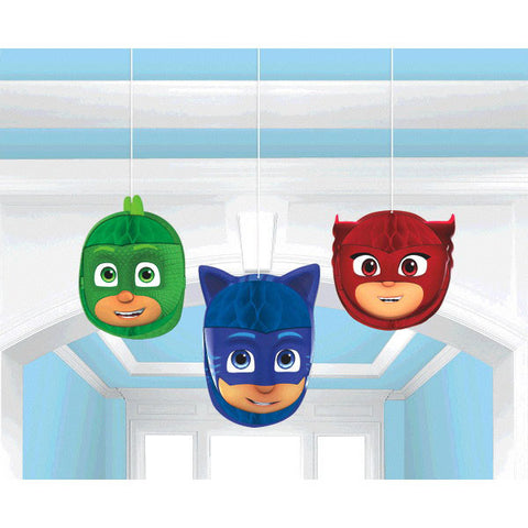PJ Masks Honeycomb Decorations 3ct/