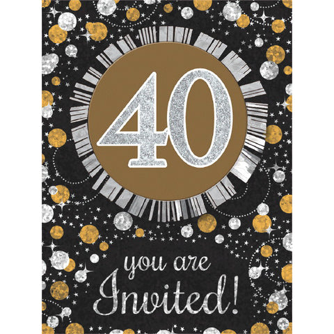 Sparkling Celebration 40 Invitations 8ct.