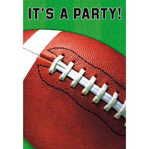 Football Fan Folded Invitations 8ct.
