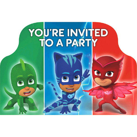 PJ Masks Postcard Invitations 8ct.