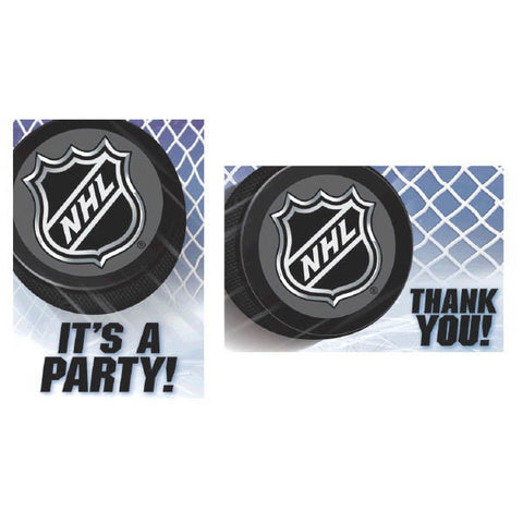 NHL Ice Time! Invitation & Thank You Card Set 8ct.