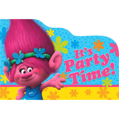 Trolls Postcard Invitations 8ct.