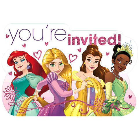 Princess Dream Big Postcard Invitations 8ct.