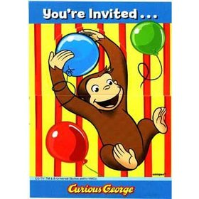 Curious George Invitations 8ct.