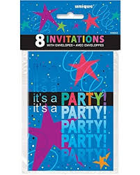 Cosmic Birthday Invitations 8ct.