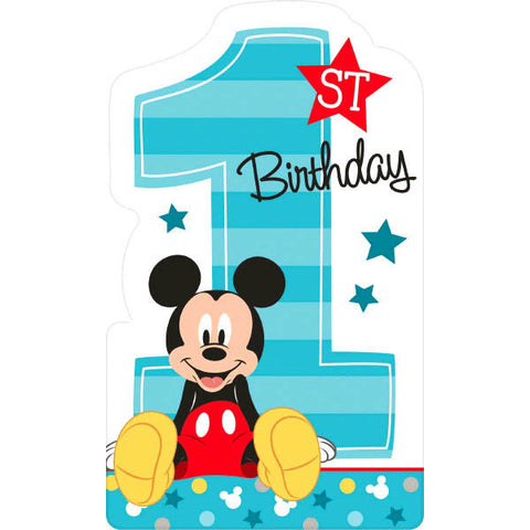 Mickey's Fun To Be One Postcard Invitations 8ct.