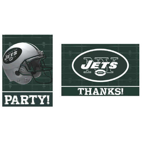 New York Jets Invitations & Thank You Card Sets 8 each