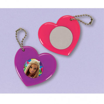 Barbie Sparkle Heart Mirror Keychain Favors 12ct.