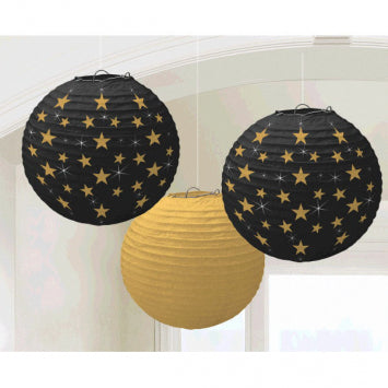 Hollywood Round Paper Lanterns 3ct.