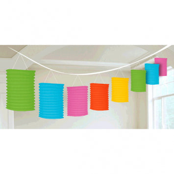 Multi Color Paper Lantern Garland