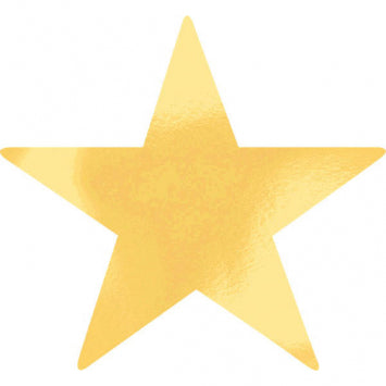 Gold Large Foil Star Cutouts 5ct.
