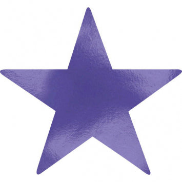 Purple Large Foil Star Cutouts 5ct.