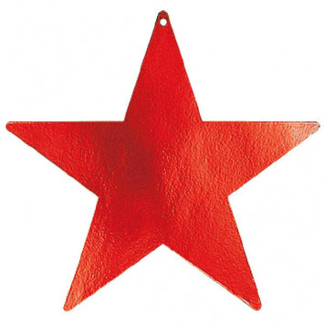 Apple Red Large Foil Star Cutouts 5ct.